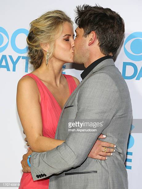Actress Linsey Godfrey and actor Robert Adamson attend The 40th Annual Daytime Emmy Awards After Party at The Beverly Hilton Hotel on June 16, 2013...