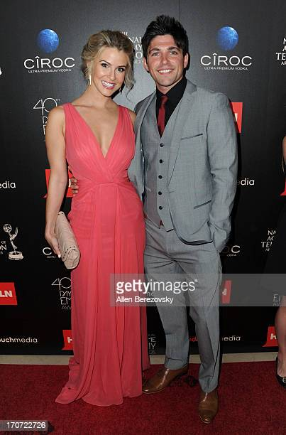 Actress Linsey Godfrey and Robert Adamson attend 40th Annual Daytime Entertaimment Emmy Awards - Arrivals at The Beverly Hilton Hotel on June 16,...
