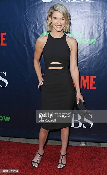 Actress Linsey Godfrey arrives at CBS CW And Showtime 2015 Summer TCA Party at Pacific Design Center on August 10 2015 in West Hollywood California
