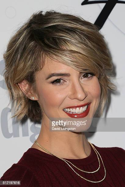 Actress Linsey Godfrey arrives at the 40th Anniversary of the Soap Opera Digest at The Argyle on February 24 2016 in Hollywood California