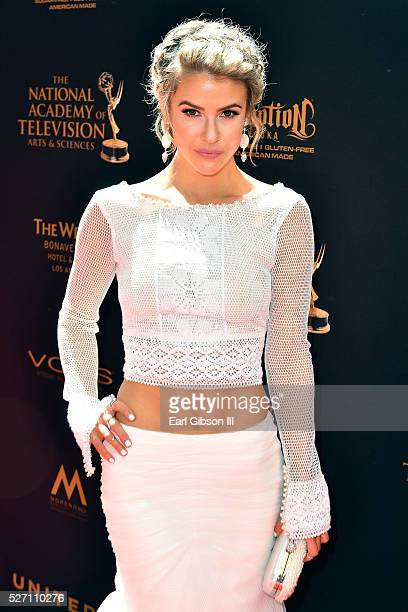 Actress Linsey Godfrey arrives at the 43rd Annual Daytime Emmy Awards at the Westin Bonaventure Hotel on May 1 2016 in Los Angeles California