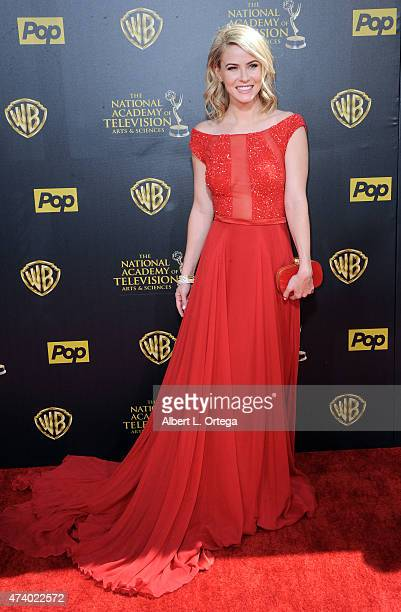 Actress Linsey Godfrey arrives for The 42nd Annual Daytime Emmy Awards held at Warner Bros Studios on April 26 2015 in Burbank California
