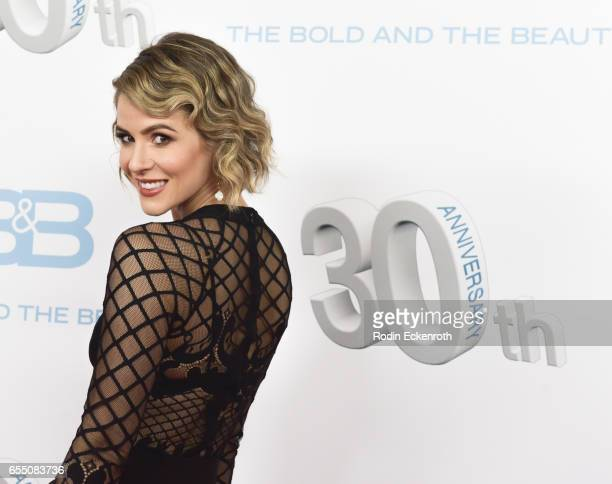 Actress Linsey Godfrey attends CBS's The Bold and The Beautiful 30th Anniversary Party at Clifton's Cafeteria on March 18 2017 in Los Angeles...