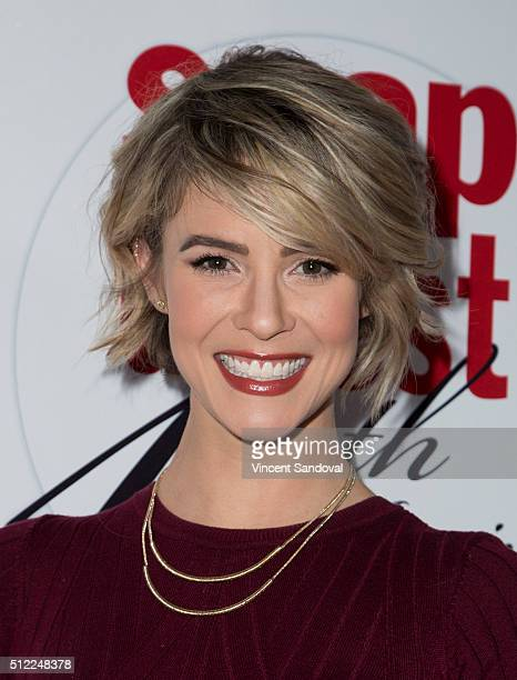 Actress Linsey Godfrey attends Soap Opera Digest Celebrates 40th Anniversary at The Argyle on February 24 2016 in Hollywood California
