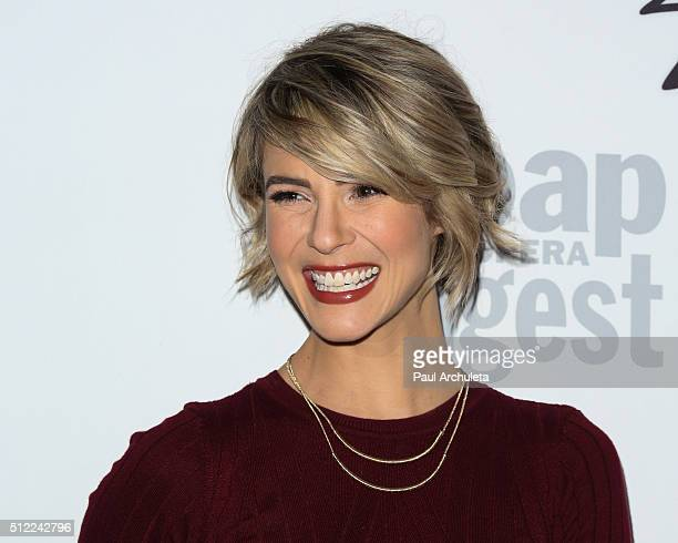 Actress Linsey Godfrey attends Soap Opera Digest's 40th Anniversary celebration at The Argyle on February 24 2016 in Hollywood California