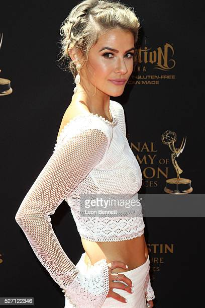 Actress Linsey Godfrey attends the 2016 Daytime Emmy Awards Arrivals at Westin Bonaventure Hotel on May 1 2016 in Los Angeles California