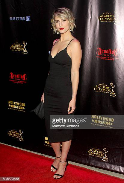 Actress Linsey Godfrey attends the 2016 Daytime Emmy Awards Nominees Reception at The Hollywood Museum on April 27 2016 in Hollywood California