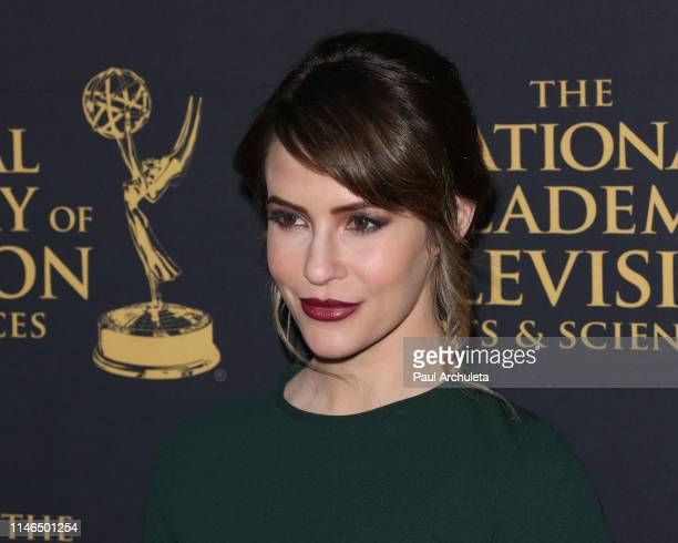 Actress Linsey Godfrey attends the 2019 Daytime Emmy Awards nominee reception at Castle Green on May 01 2019 in Pasadena California