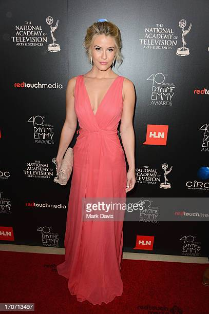 Actress Linsey Godfrey attends The 40th Annual Daytime Emmy Awards at The Beverly Hilton Hotel on June 16 2013 in Beverly Hills California