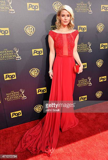 Actress Linsey Godfrey attends The 42nd Annual Daytime Emmy Awards at Warner Bros Studios on April 26 2015 in Burbank California