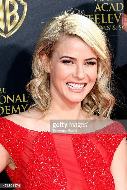 Actress Linsey Godfrey attends the 42nd annual Daytime Emmy Awards held at Warner Bros Studios on April 26 2015 in Burbank California