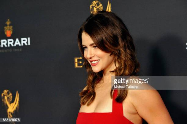 Actress Linsey Godfrey attends the Television Academy's cocktail reception with stars of daytime television celebrating the 69th Emmy Awards at Saban...