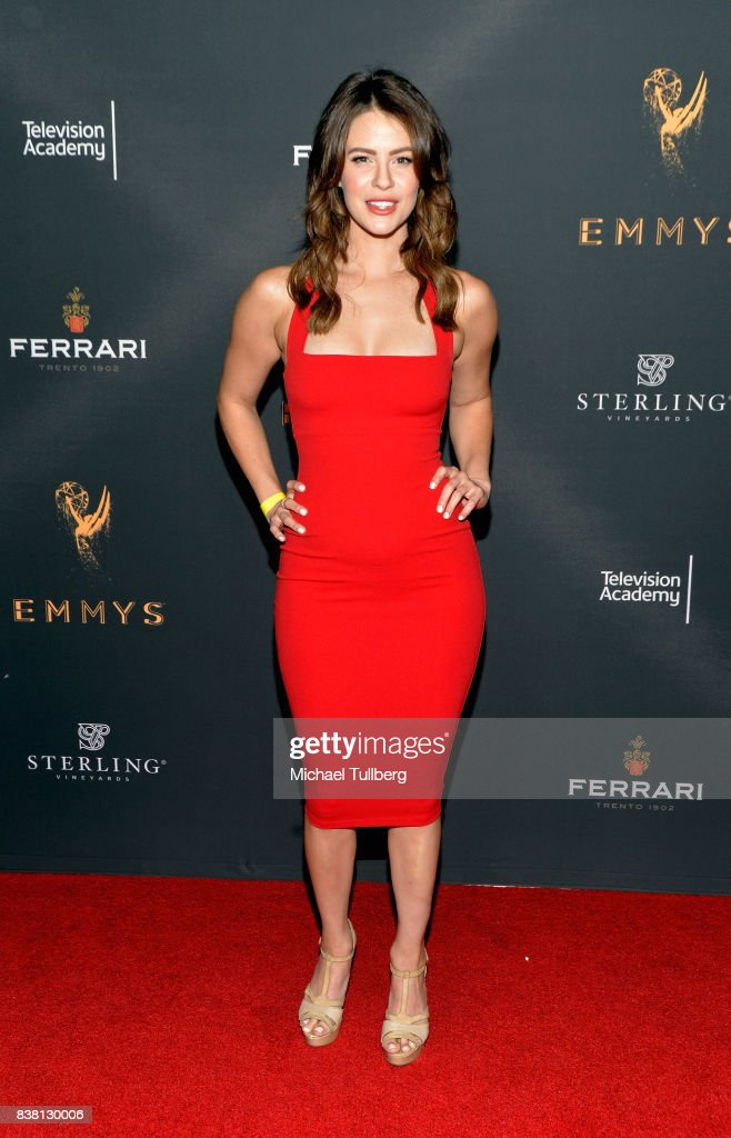 Actress Linsey Godfrey attends the Television Academy's cocktail reception with stars of daytime television celebrating the 69th Emmy Awards at Saban Media Center on August 23, 2017 in North Hollywood, California.