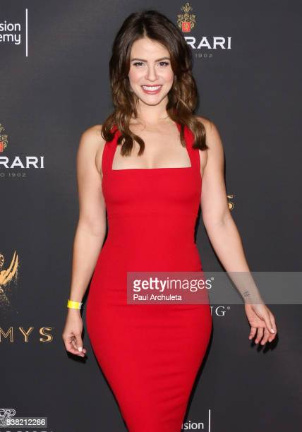 Actress Linsey Godfrey attends the Television Academy's cocktail reception with the Stars of Daytime Television celebrating The 69th Emmy Awards at...