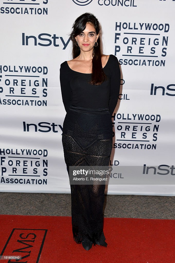 Actress Liraz Charhi arrives at the 13th Annual InStyle And The Hollywood Foreign Press Association's Toronto International Film Festival Party at the Windsor Arms Hotel on September 11, 2012 in Toronto, Canada.
