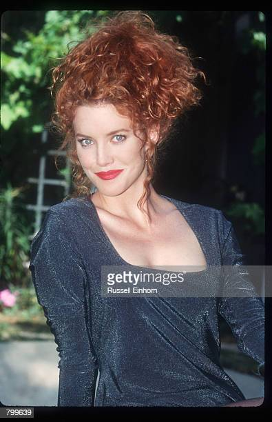 Actress Lisa Akey poses in front of her home August 18 1995 in Los Angeles CA Akey the new star of the Aaron Spelling tv series Model's Inc has acted...
