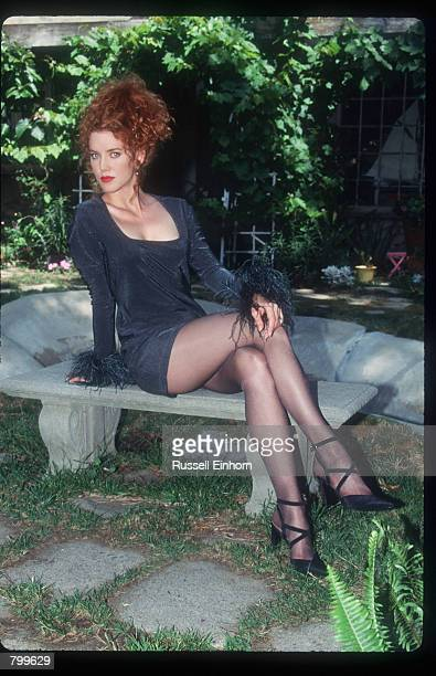 Actress Lisa Akey sits at home August 18 1995 in Los Angeles CA Akey the new star of the Aaron Spelling tv series Model's Inc has acted in several...