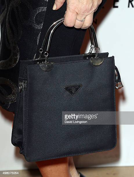 Actress Lisa Ann Walter purse detail attends the 13th Annual Lupus LA Hollywood Bag Ladies Luncheon at The Beverly Hilton Hotel on November 20 2015...