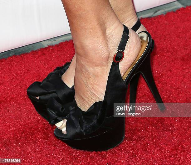 Actress Lisa Ann Walter shoe detail attends the Actors Fund's 19th Annual Tony Awards Viewing Party at the Skirball Cultural Center on June 7 2015 in...