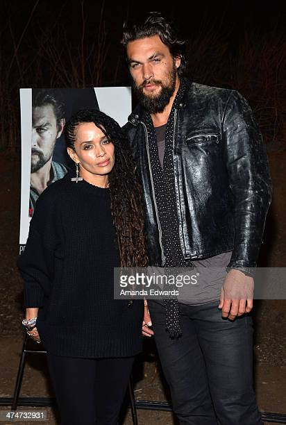 Actress Lisa Bonet and actor Jason Momoa arrive at the Sundance Channel's premiere screening of their new series The Red Road at The Bronson Caves at...