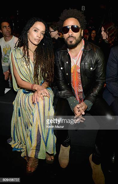 Actress Lisa Bonet and recording artist Lenny Kravitz attend Saint Laurent at the Palladium on February 10, 2016 in Los Angeles, California for the...