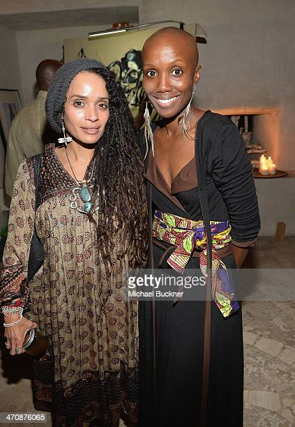 Actress Lisa Bonet and Tiffany Persons founder Shine On Sierra Leone attend the Shine On Sierra Leone's Annual 'Light The Night' on February 20 2014...