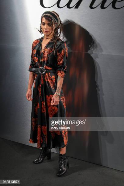 Actress Lisa Bonet arrives on the red carpet for the Santos de Cartier Watch Launch at Pier 48 on April 5 2018 in San Francisco California