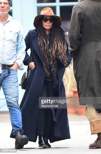 Actress Lisa Bonet is seen walking in Soho on January 22 2018 in New York City