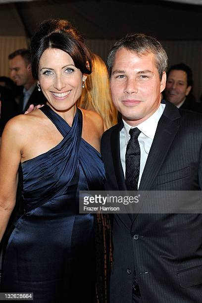 Actress Lisa Edelstein and artist Shepard Fairey attend 2011 MOCA Gala An Artist's Life Manifesto Directed by Marina Abramovic at MOCA Grand Avenue...