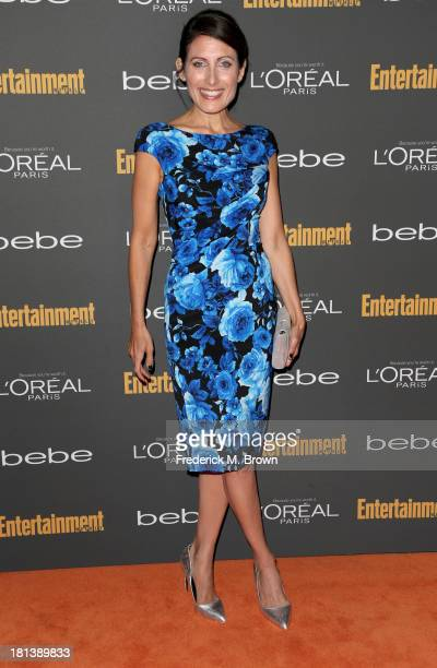 Actress Lisa Edelstein arrives at Entertainment Weekly's Pre-Emmy Party at Fig & Olive Melrose Place on September 20, 2013 in West Hollywood,...