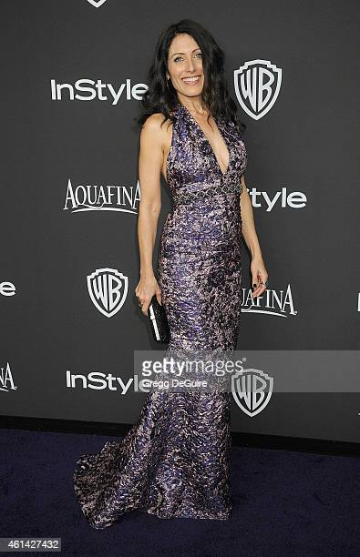 Actress Lisa Edelstein arrives at the 16th Annual Warner Bros And InStyle PostGolden Globe Party at The Beverly Hilton Hotel on January 11 2015 in...