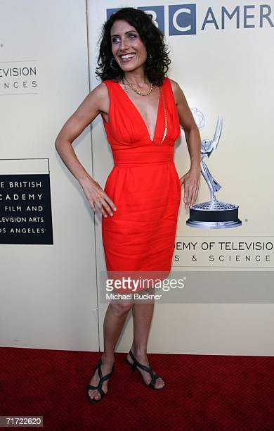 Actress Lisa Edelstein arrives at the BAFTA/LAAcademy of Television Arts and Sciences Tea Party at the Century Hyatt on August 26 2006 in Century...