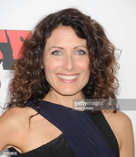 "Actress Lisa Edelstein arrives at the Los Angeles premiere of ""Machete Kills"" at Regal Cinemas L.A. Live on October 2, 2013 in Los Angeles,..."