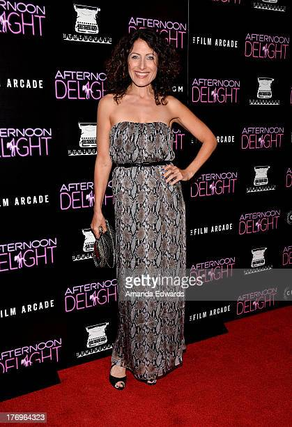 """Actress Lisa Edelstein arrrives at the Los Angeles premiere of """"Afternoon Delight"""" at ArcLight Hollywood on August 19, 2013 in Hollywood, California."""