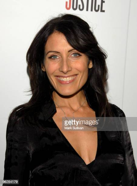 Actress Lisa Edelstein attends Artists For Haiti benefit at Track 16 Gallery on January 28 2010 in Santa Monica California