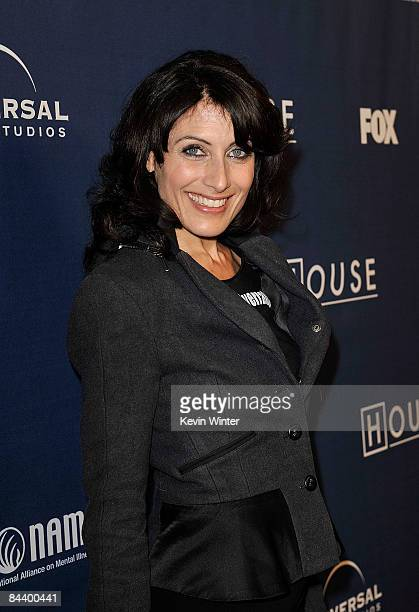 Actress Lisa Edelstein attends Fox's 'House' 100th Episode Party NAMI Charity Celebration on January 21 2009 in Los Angeles California
