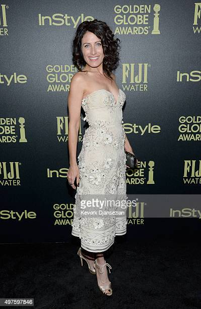 Actress Lisa Edelstein attends Hollywood Foreign Press Association and InStyle Celebration of The 2016 Golden Globe Award Season at Ysabel on...