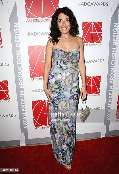 Actress Lisa Edelstein attends the 19th annual Art Directors Guild Excellence In Production Design Awards at The Beverly Hilton Hotel on January 31...