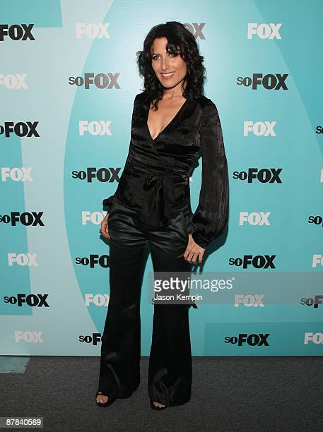 Actress Lisa Edelstein attends the 2009 FOX UpFront after party at the Wollman Rink in Central Park on May 18 2009 in New York City