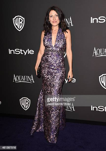 Actress Lisa Edelstein attends the 2015 InStyle And Warner Bros 72nd Annual Golden Globe Awards PostParty at The Beverly Hilton Hotel on January 11...