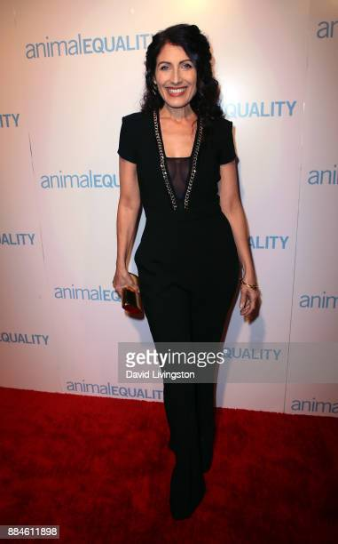 Actress Lisa Edelstein attends the Animal Equality Global Action annual gala at The Beverly Hilton Hotel on December 2 2017 in Beverly Hills...