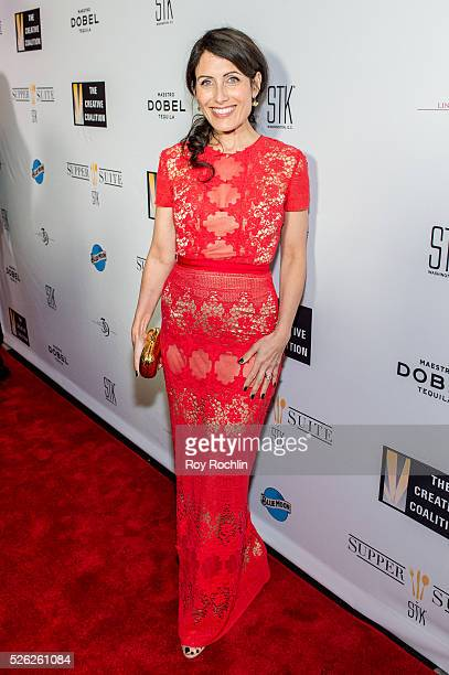 Actress Lisa Edelstein attends The Creative Coalition's Night Before Dinner at The Supper Suite by STK on April 29 2016 in Washington DC
