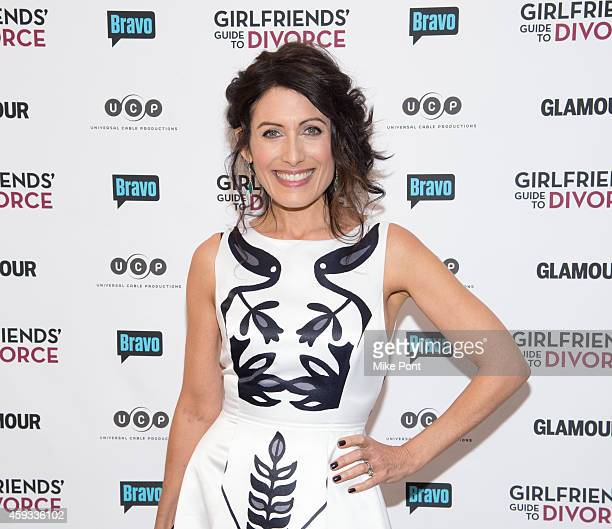 Actress Lisa Edelstein attends the 'Girlfriend's Guide To Divorce' New York Series Premiere at Crosby Street Hotel on November 20 2014 in New York...