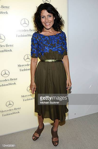 Actress Lisa Edelstein attends the MercedesBenz Fashion Week Spring 2011 Official Coverage at Lincoln Center on September 9 2010 in New York City