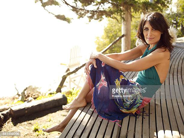 Actress Lisa Edelstein is photographed Prevention Magazine on February 20 2010