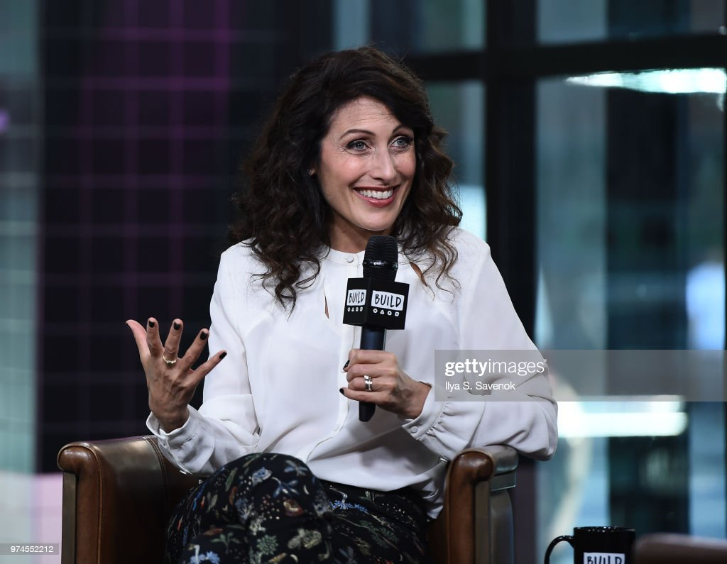 Actress Lisa Edelstein visits Build Series to promote 'Girlfriend's Guide to Divorce' at Build Studio on June 14, 2018 in New York City.
