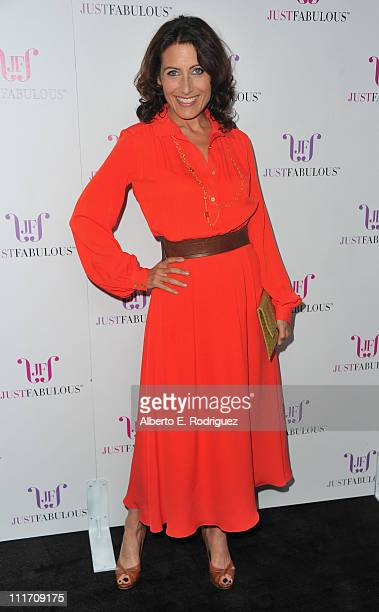 Actress Lisa Edelstien arrives to the launch of JustFabulous hosted by Jessica Paster on April 5 2011 in West Hollywood California