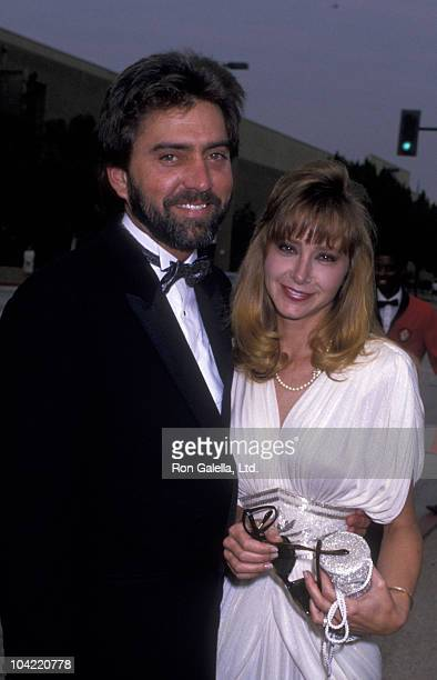 Actress Lisa Eilbacher and husband Bradford May attend 41st Annual Primetime Emmy Awards on September 16 1989 at the Pasadena Civic Auditorium in...