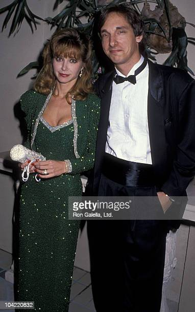 Actress Lisa Eilbacher and husband Bradford May attend Nolan Miller Couture Fashion Show on September 30 1988 at the Four Seasons Hotel in New York...