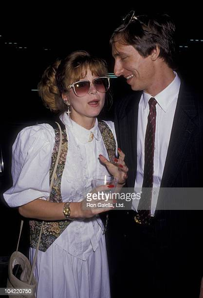Actress Lisa Eilbacher and husband Bradford May attend the screening of Cracked Up on May 18 1987 at the Writers Guild Theater in Beverly Hills...